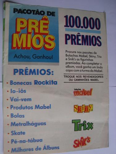 álbum brinque com a gente bolachas skinny mabel 1990