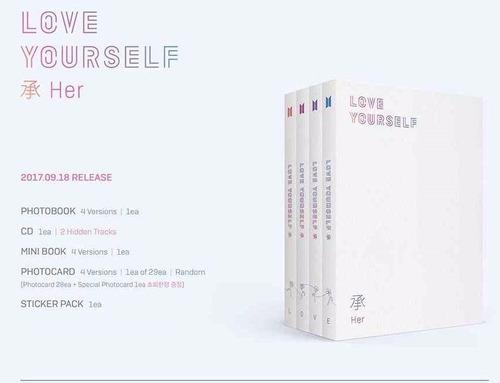 album bts love yourself envio inmediato kpop coreano