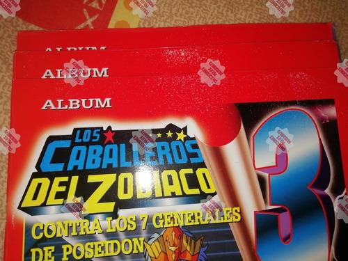 álbum caballeros del zodiaco 3 - navarrete 1996(últimos.