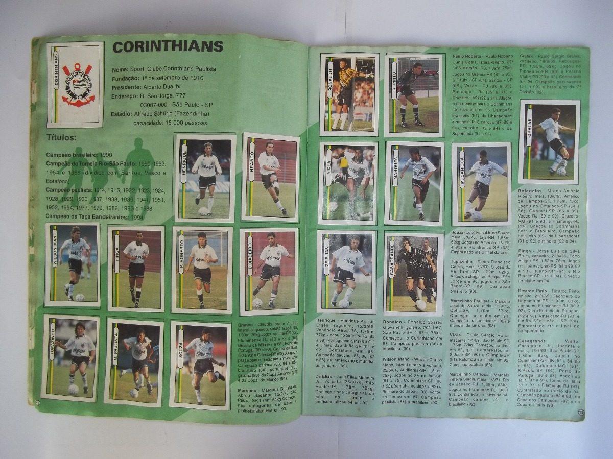 62371c4c1b4a1 álbum campeonato brasileiro 94 - faltam 4 figurinhas. Carregando zoom.