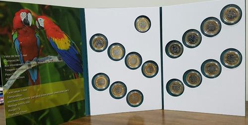 álbum cápsula vazio p/16 moedas olimpiadas - (sem bandeira)