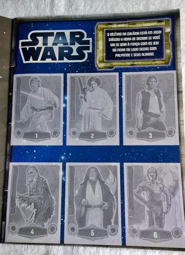 álbum cards oficial star wars force attax vazio