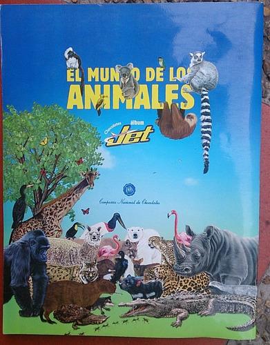 album chocolatinas jet mundo de los animales vacio