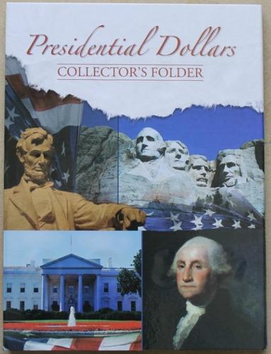 album clasificador para monedas de dolar de presidentes