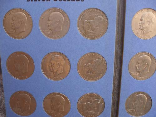 álbum  colección de monedas de 1971 a 1978 dolar liberty