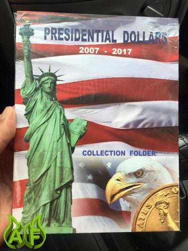 album coleccionador para monedas de 1 dolar presidentes