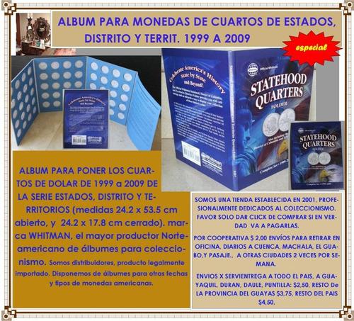 album coleccionador whitman monedas cuartos estados dis terr