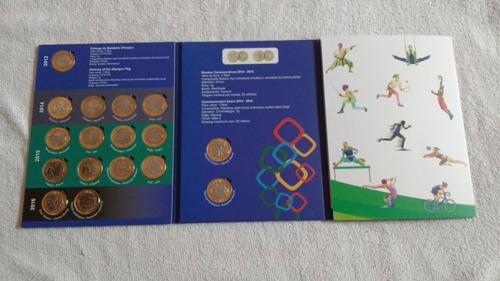 album coleção completa moeda olimpiadas + bandeira rio 2016