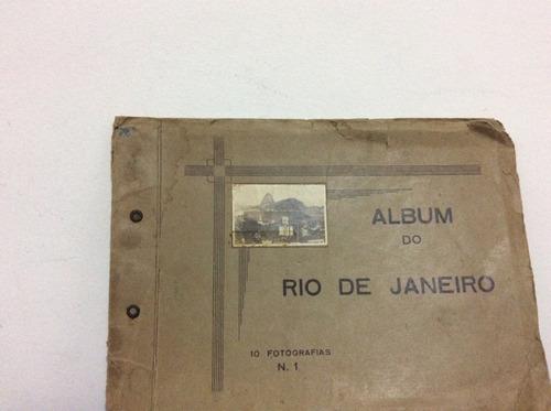 álbum com dez fotografias riio de janeiro antigo original
