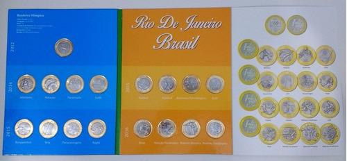 álbum completo 17 moedas 1 real olimpícas rio 2016 + brinde
