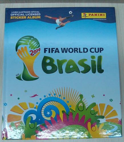 álbum copa 2014 fifa world cup brasil capa dura frete gratis