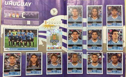 álbum copa américa 2011 uruguay completo