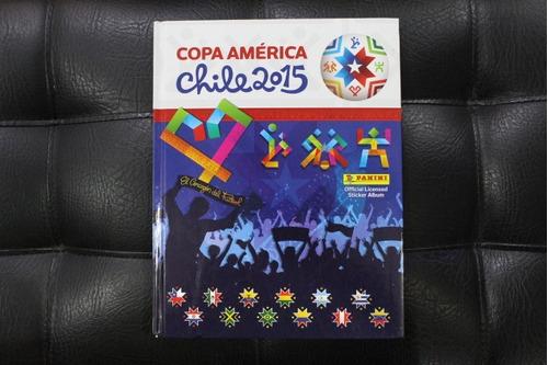 album copa américa chile 2015 pasta dura panini lleno xdx