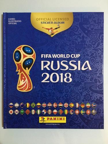 álbum copa do mundo russia 2018 capa dura