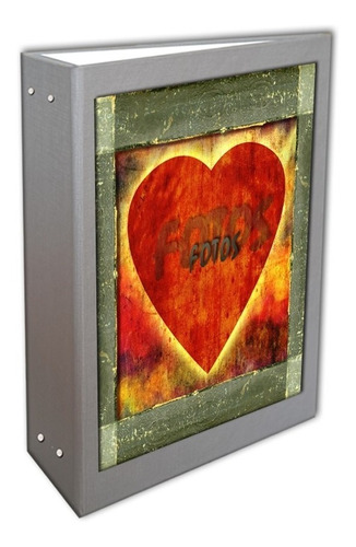 álbum coração prata 10x15 - 600 fotos + brinde especial
