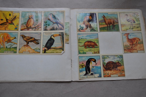 album cuaderno escolar figuritas patrióticas decada 50
