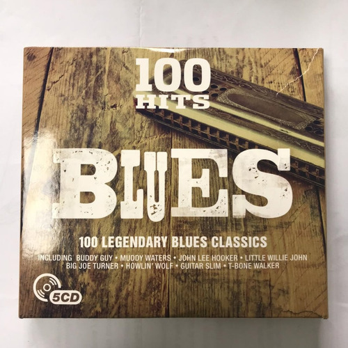 album de 5 cd 100 exitos originales blues caja estuche dmg
