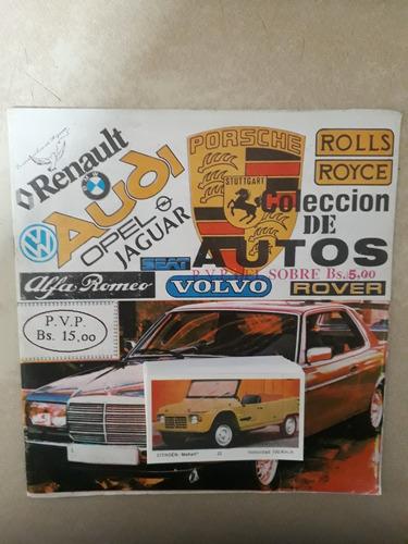 album de autos reyauca años 80 ( intercambio barajitas)