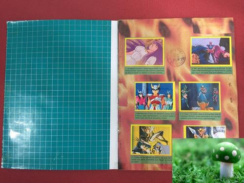 álbum de cromos caballeros del zodiaco 2, como nuevo, lleno