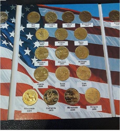 álbum de cuartos de dolar de estados unidos años 1999 - 2008