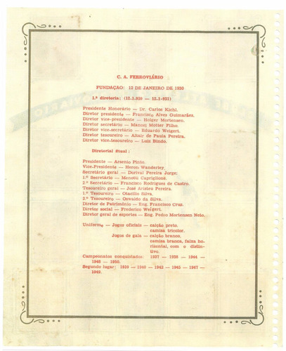 álbum de figurinha digitalizado campeonat paranaense de 1952