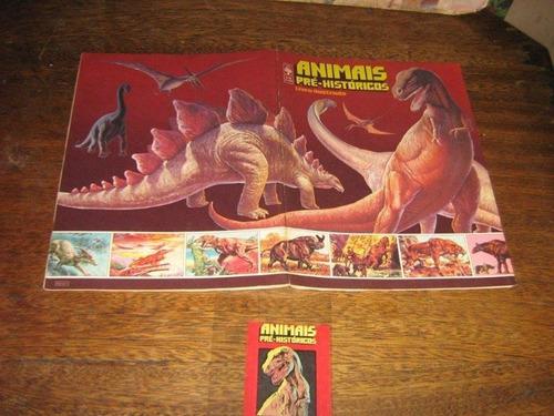 album de figurinhas animais pré-historicos 1978  + envelope