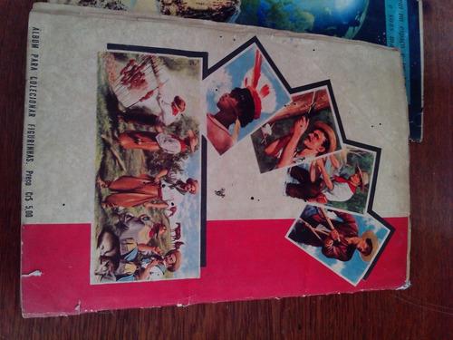 álbum de figurinhas antigas raças e costumes do mundo intei