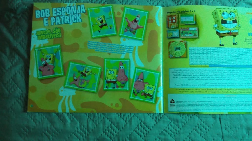 Album De Figurinhas Bob Esponja Completo R 59 00 Em Mercado Livre
