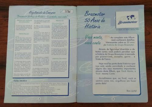 album de figurinhas brasmotor 50 anos