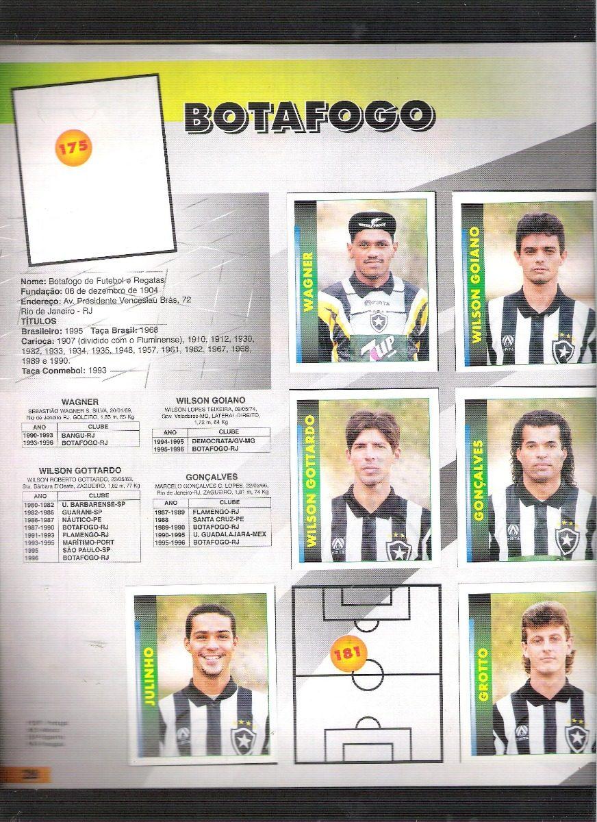 e694ec5d9088d álbum de figurinhas campeonato brasileiro 1996 - incompleto. Carregando zoom .