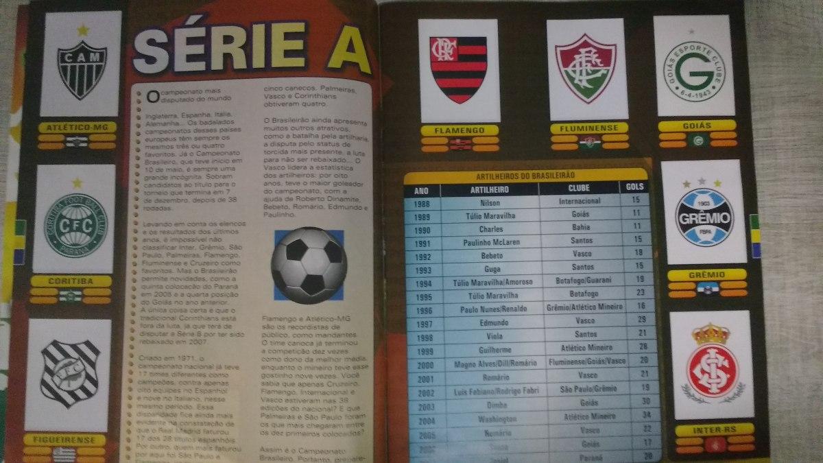 0d6926134b58b álbum de figurinhas campeonato brasileiro 2008 - incompleto. Carregando zoom .