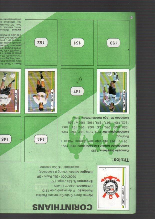 750986a45bc42 álbum de figurinhas campeonato brasileiro 94 - incompleto. Carregando zoom.