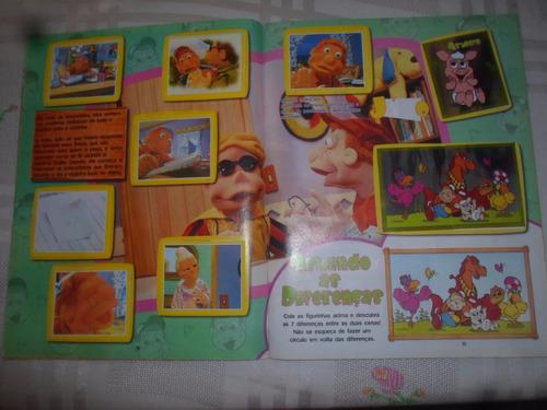 álbum de figurinhas cocoricó av. da turma na fazenda complet