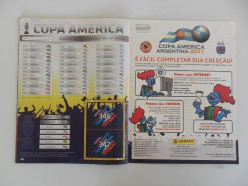 album de figurinhas copa américa argentina 2011! incompleto!
