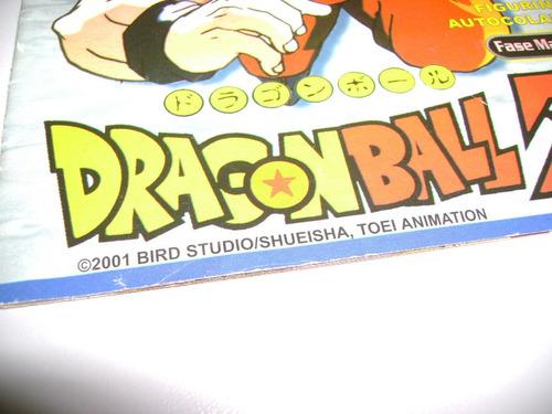 álbum de figurinhas dragonball z