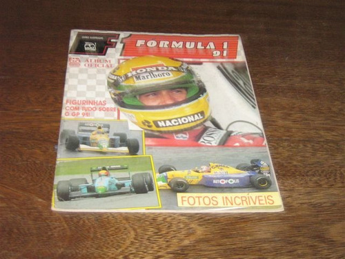 album de figurinhas formula 1 ed multi ano:1991 incompleto