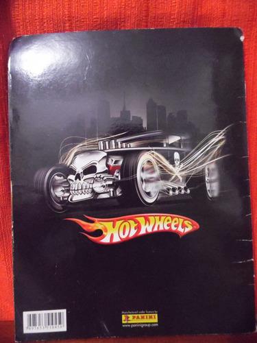 album de figurinhas  - hot wheels - panini - faltando 1