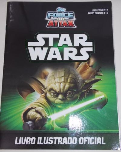 álbum de figurinhas oficial star wars force attax