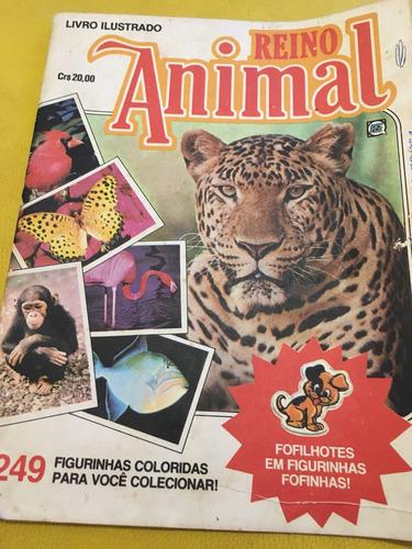 álbum de figurinhas reino animal