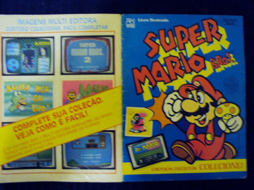 álbum de figurinhas super mario bros. (incompleto)