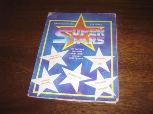 album de figurinhas super stars editora azevedo