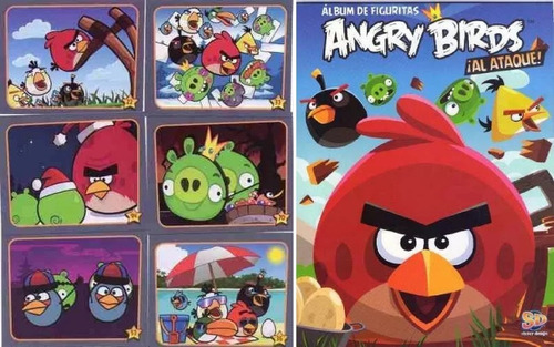 album de figuritas angry birds al ataque vacio con 50 sobres
