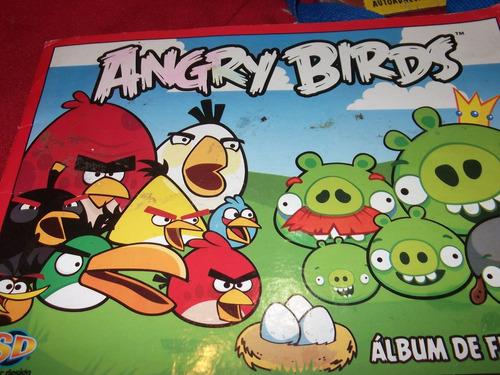 album de figuritas angry birds -incompleto