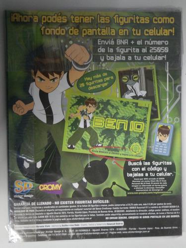álbum de figuritas ben 10 cartoon network