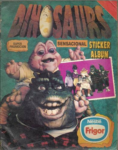 album de figuritas de dinosaurios