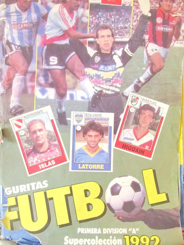 album de figuritas futbol primera div. a supercoleccion 1992
