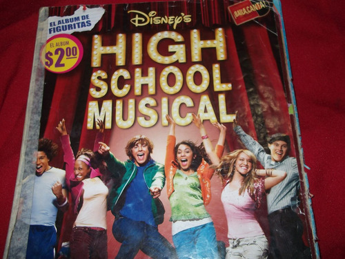 album de figuritas high school musical-incompleto