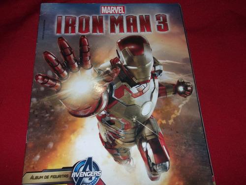 album de figuritas iron man 3 -incompleto