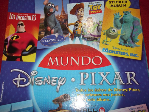 album de figuritas mundo disney-pixar-incompleto