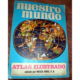 Album De Figuritas Nuestro Mundo Completo Impecable
